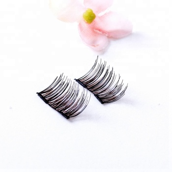 Natural looking diamond custom eyelash packaging double layer eyelash extension 3d magnetic eyelashes