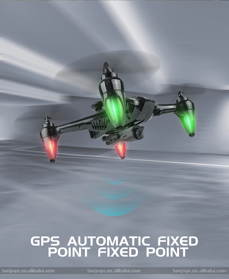 Newest Product GPS Drone 5G Wifi video camera drone with 720p wide angle camera Height set function with follow me SJY-198GPS