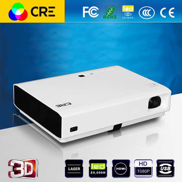 Cre X2500 high quality fast shipping mini hd laser cinema shutter 3D home dlp projector <strong>1080p</strong>