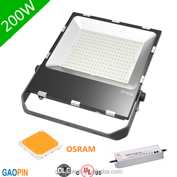 UL Led outdoor lighting Slim LED Flood light bulb 200W OSRAM 3030 LED Ultra-thin Flood Lighting