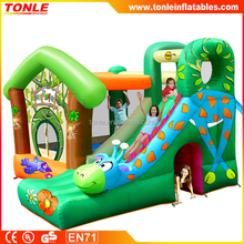 kids inflatable Jungle Fun jumper combo/ inflatable bouncer with slide/ inflatable jumping castle for sale