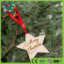 tree decor wooden star christmas ornament