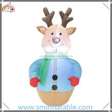 Promotion inflatable christmas led reindeer, led reindeer tumbler toy model for event\party\exhibition