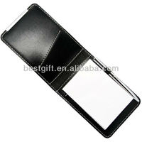 Leather Business Card Holder With Notepad