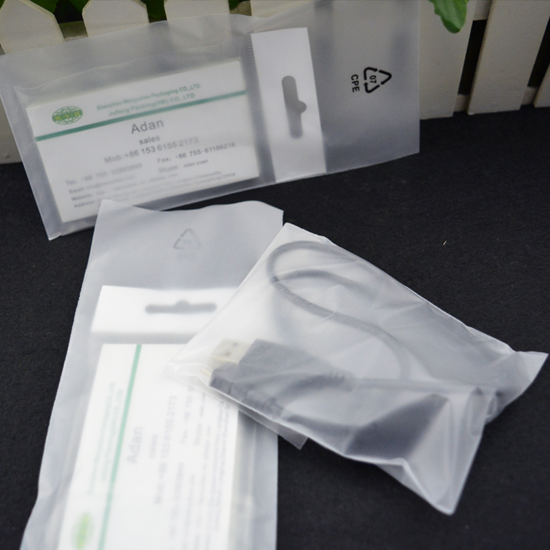 mobile phones smartphone cpe packaging bags , custom logo CPE frosted bag bags