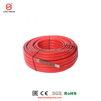 Electric heating cable element for roof and gutter