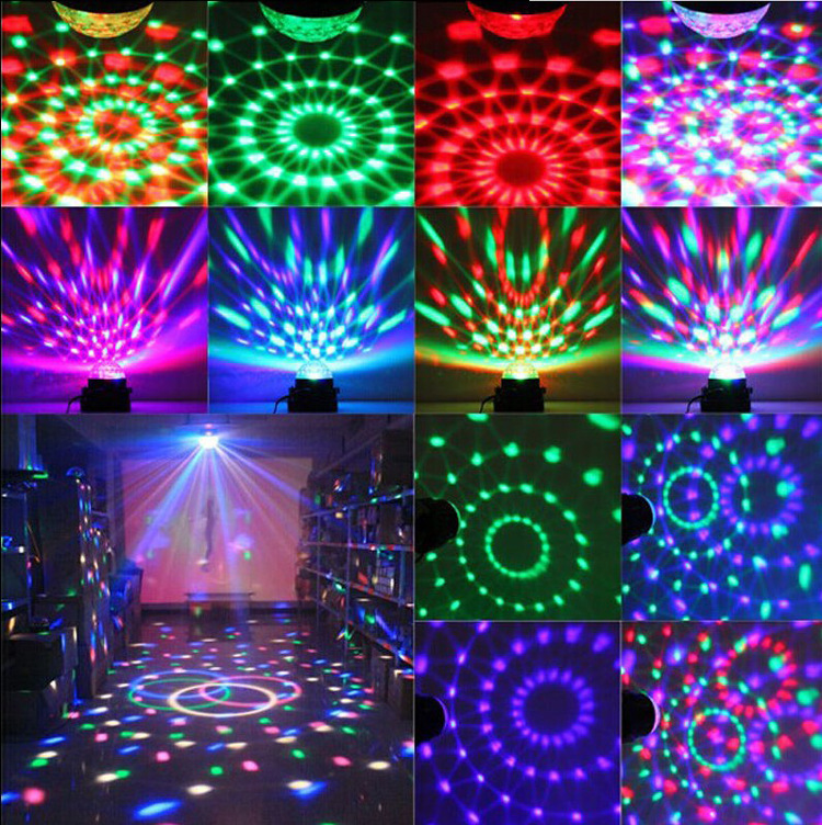LED RGB DJ Club Disco KTV Party Magic Ball Crystal Effect Light Stage Lighting