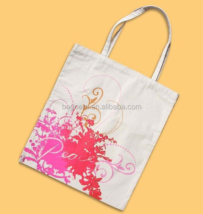 hot sale natural shopping paper bag with cotton handle