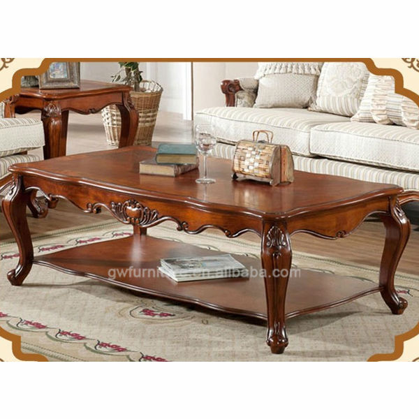 hand carved classic solid wood living room center <strong>table</strong>