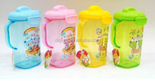 1L children plastic juice jug with lid and handle