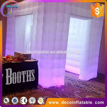 Wedding Party Inflatable lighting open air photo booth tent