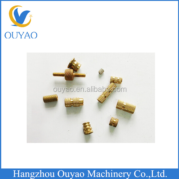 finish machining insert nut for plastic with OEM service brass/copper fitting