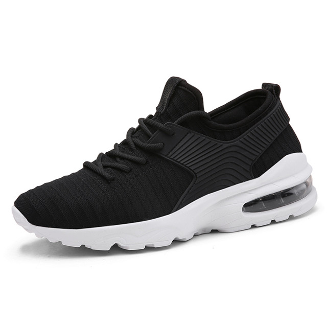 New Product Lace Up Comfortable Mens Air Casual Sport Black Running Shoes Factory Price