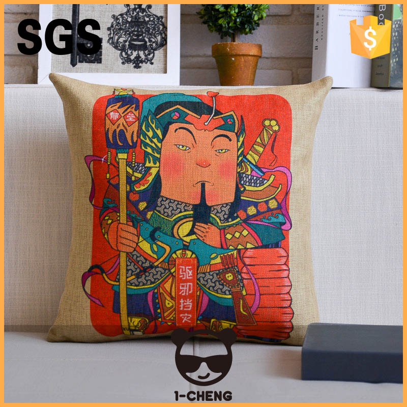 New design Chinese national pattern printed pillow case for home
