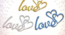 New Design Gold Silver Love Heart Ring Shape Topper/Creative Blue Lovely Wedding Party Cake Topper Flags