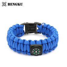 mens beaded paracord survival bracelet with fish hook