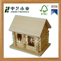 High quality garden accessories decoration unfinished custom wooden bird house