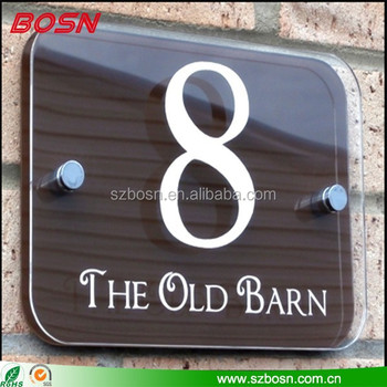 clear acrylic door sign holder plexiglass door number sign