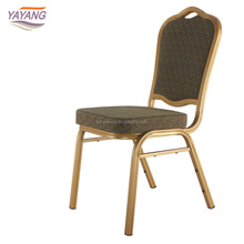 Portable gold hotel banquet chair used stackable church chairs with chairs covers wedding decoration on sale