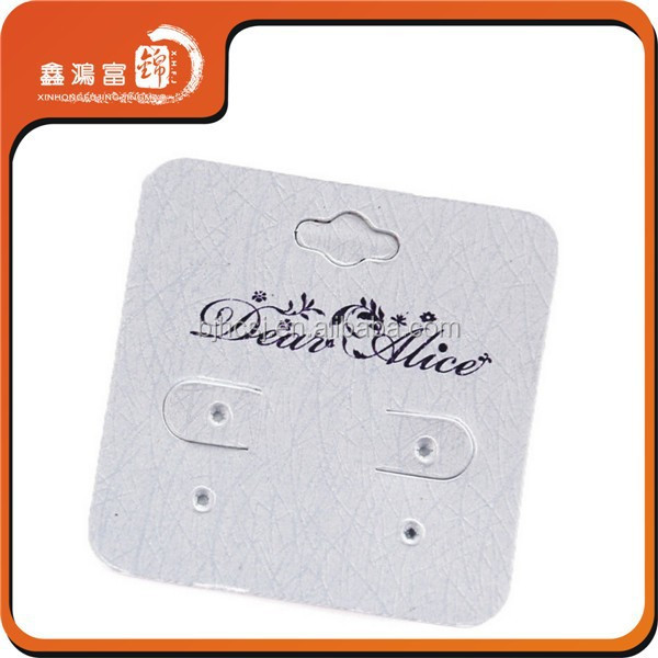 Logo customized printing plastic jewelry cards