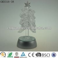 Wholesale glass tree sparkle trendy christmas gifts 2014