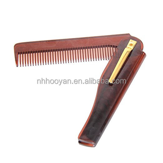 2017 New Travel folding beard and Mustache pocket comb