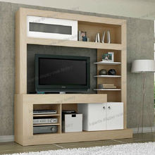 Hot Selling Wood Home Furniture LCD Wall Unit Design Display