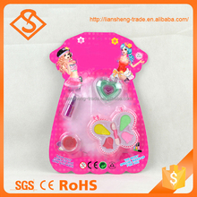 Easy play plastic toy children makeup kit for girl diy painting