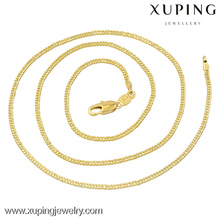 40868-xuping fancy long chain necklace,14k gold heavy simple designs necklace ,saudi gold necklace