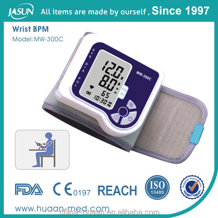 FDA & CE Approval Electric Medical Wrist Blood Pressure Monitor