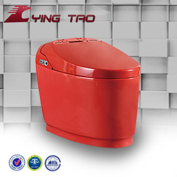 Deodorizer automatic flush floor mounted sanitary ware smart toilet Eastern Europe intelligent toilet ceramic red with S-trap