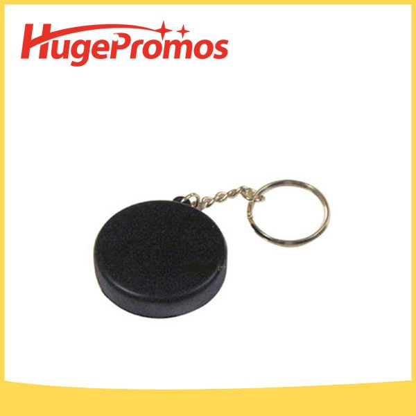 Promotinal PU Custom Hockey Puck Keyring