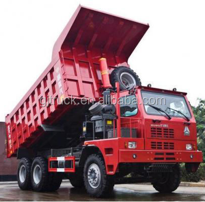 6x4 Howo Mine dump <strong>truck</strong> for 80T loading weight for big stone