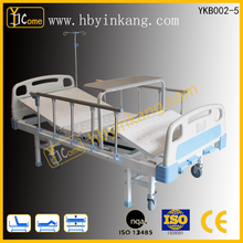 YKB002-5 Adjustable Three Crank Manual bed with overbed table