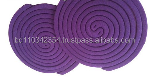 125mm size middel east purple color mosquito coil smokeless mosquito killer mosquito repellent incense coil