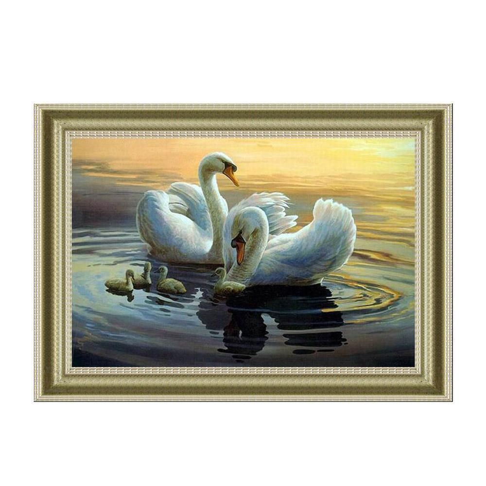 5d Diamond Painting Diy Embroidery Landscape Swans Mosaic Picture Animal Painting Rhinestones Beadwork Decoration For Home