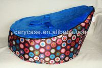 Colorful bubble pink / blue seat TOP QUALITY baby bean bag, waterproof original baby beanbag sofa seat with 2 upper tops