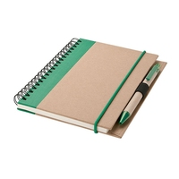 Custom Recycled kraft Paper Spiral Notebook with Pen attached Brand Factory Online Shopping