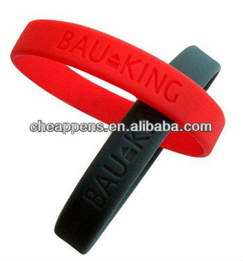 promotional gift logo cheap silicone wrist band