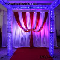 luxury silver suqar party decoration wedding stage mandap decoration crystal wedding arch for weddings, party , event(MBD-012)