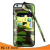 New arrival card slot camouflage pattern PU leather case cover for iphone5