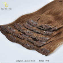 China Supplier Briliant OEM&ODM Finest New Design Fashion Full Head Double Wefted Lace non clip hair extensions