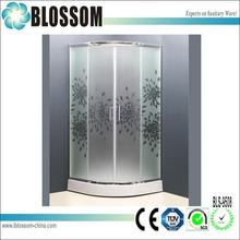 China competitive price USA selling tempered glass teporary ariel steam shower