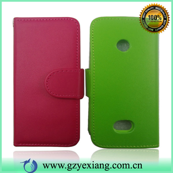 Bright Color Phone Cover For Nokia 208 Wholesale Cell Phone PU Leather Case
