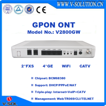 4GE+2FXS+WiFi+RF GPON CATV ONU same features with Huawei EchoLife HG8247 for FTTH Triple Play Solution