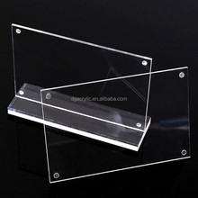 wholesale magnetic double sided acrylic picture frames 3x5