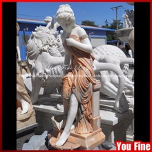 new premium outdoor garden marble woman water fountains