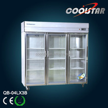 commercial restaurant large kitchen upright refrigerator showcase