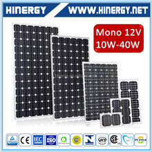 Hinery high quality small solar panel 10W 20w 30w 40w solar panel module for off grid home solar system with best price