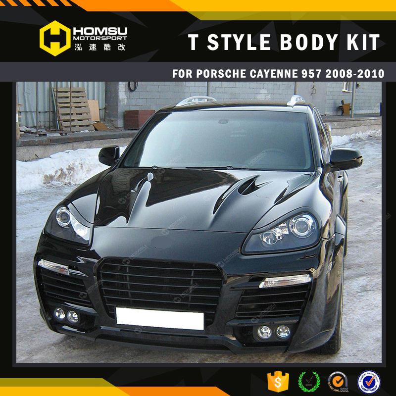 TA style auto parts design fornt bumper excellent quality fiber glass material body kits for cayenne 957